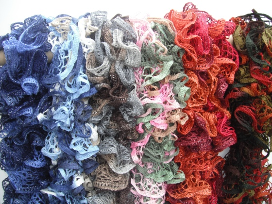 ruffle scarfs